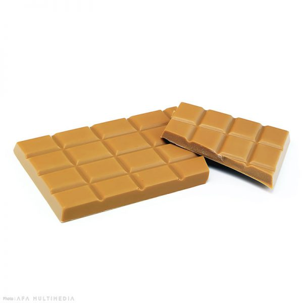 Tablette chocolat blanc et caramel