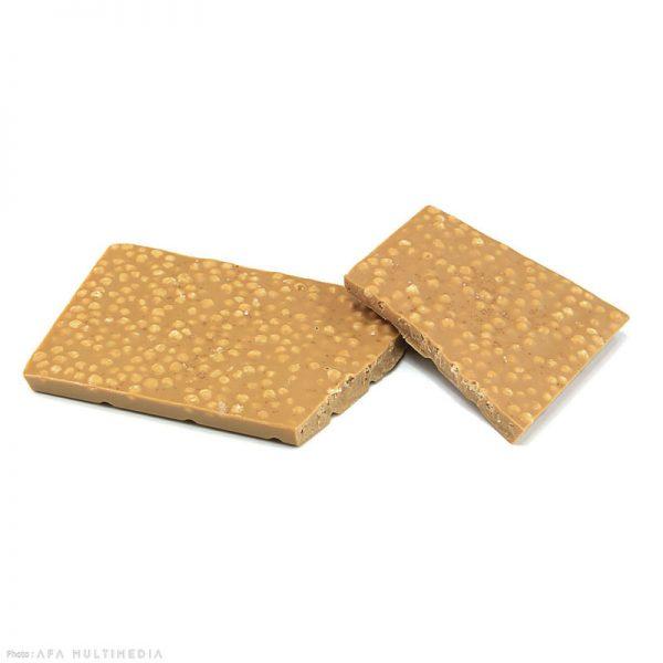 tablette blanc et caramel cérérales