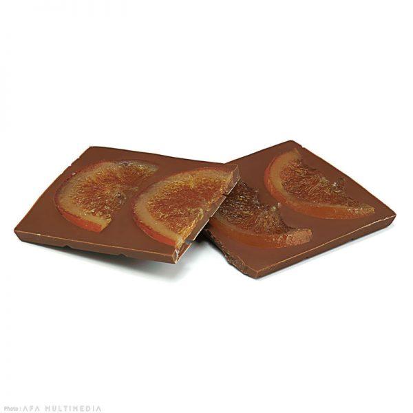 tablette lait oranges confites