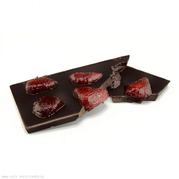 Tablette noir fraise