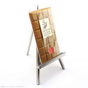 Tablette chocolat blanc et caramel par Sylvie Faucher.
