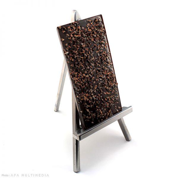 Tablette chocolat noir aux éclats de fèves de cacao
