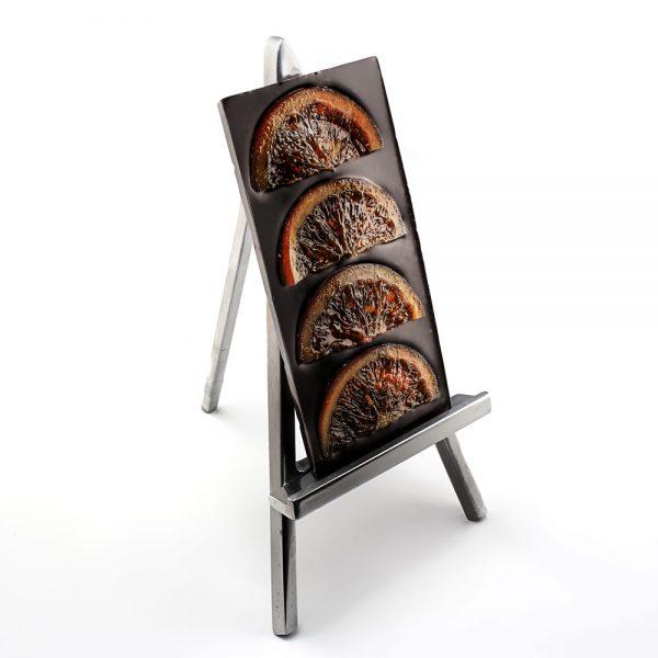 Tablette chocolat noir aux oranges confites